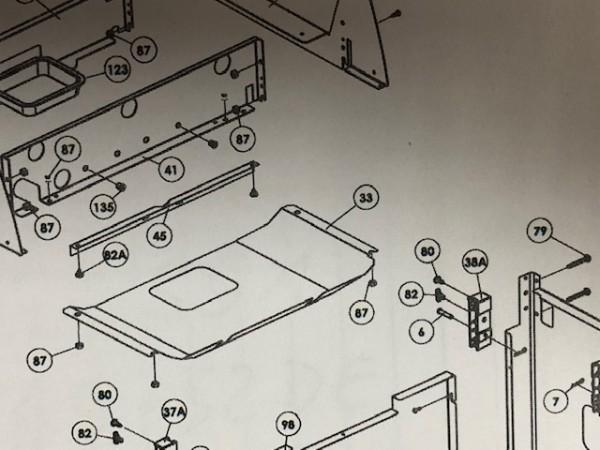 Fettauffang-Blech Signet 20/40/90 alte Bauform