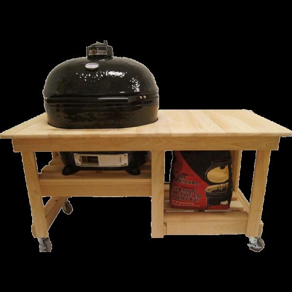 Counter Top Tisch aus Zypressenholz für OVAL XL