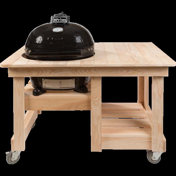 Counter Top Tisch aus Zypressenholz für OVAL Junior
