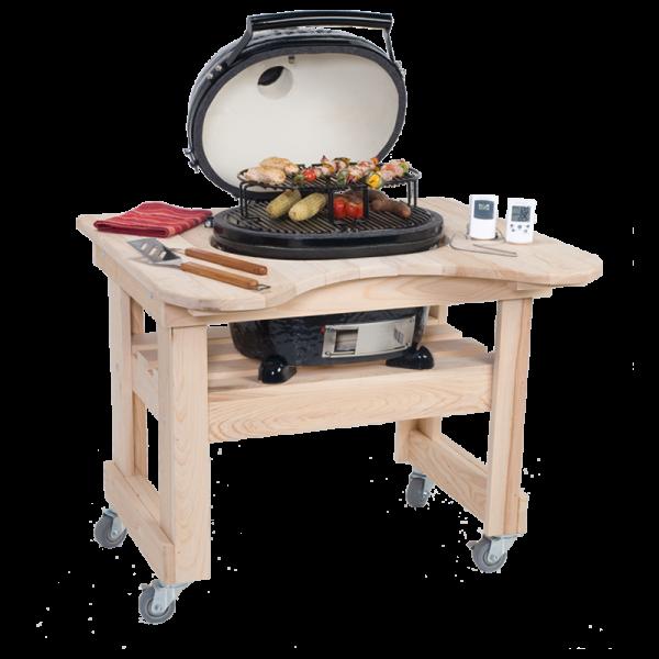 Zypressenholz-Tisch für OVAL Junior