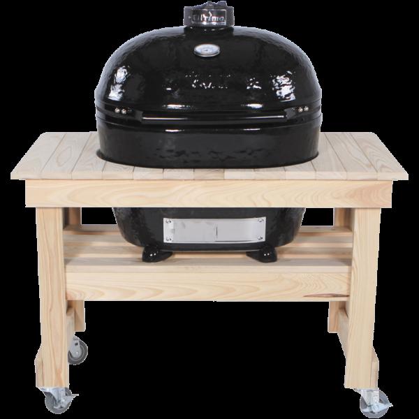 Zypressenholz-Tisch kompackt Oval 400 XL