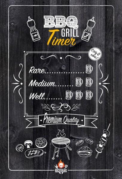 """Blechschild """"BBQ Grill Timer"""""""