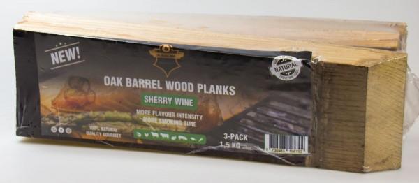 Planken Sherry Wine 3 x Fassplanken 1,5 Kg