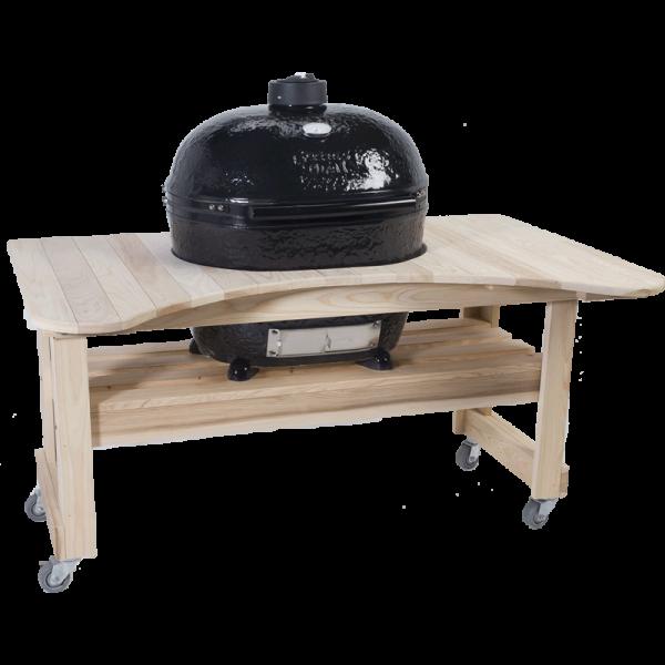 Zypressenholz-Tisch für Oval 400 XL