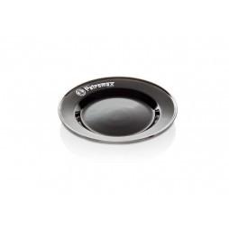 Emaille-Teller schwarz 2 St.